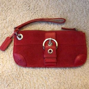 Bath and Body Works red leather wristlet. New
